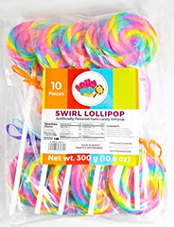 Rainbow Swirl Lollipop – Birthday Party, Favors, Decorations, Supplies – By Lolly Pop Party