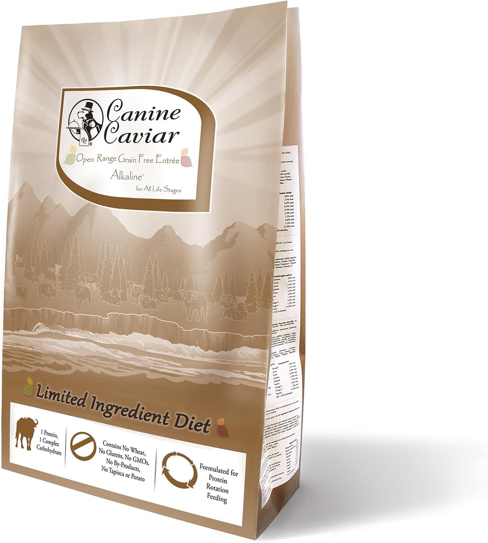 Cane Caviale Open Range Limited Ingredient e AlkalineHolistic Entr 65533eAll Life Stages Dog Food, 24 lb
