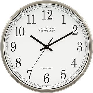 La Crosse Technology WT-3126B 12-Inch Atomic Analog Wall Clock, Aluminum