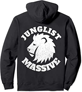 Junglist Massive Drum and Bass EDM DnB Lion Pullover Hoodie