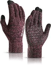 TRENDOUX Winter Gloves for Men and Women - Upgraded Touch Screen Anti-Slip Silicone Gel - Elastic Cuff - Thermal Soft Wool...