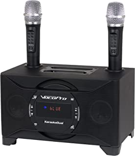 VOCOPRO Wireless Microphones & Vocal Eliminator, 1X1X1 (KARAOKEDUAL)