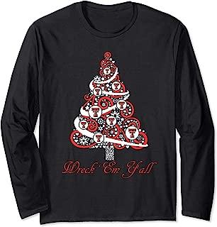 Texas Tech Red Raiders Christmas Tree Long Sleeve T-Shirt
