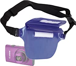 DURAGADGET Blue All-Weather Waterproof Waist Bag/Dry Case with Adjustable Waist Strap - Compatible with Canon IXUS 125 HS PowerShot SX240 HS IXUS 132/Olympus Tough TG-2 SZ-16 Syylus SH-50