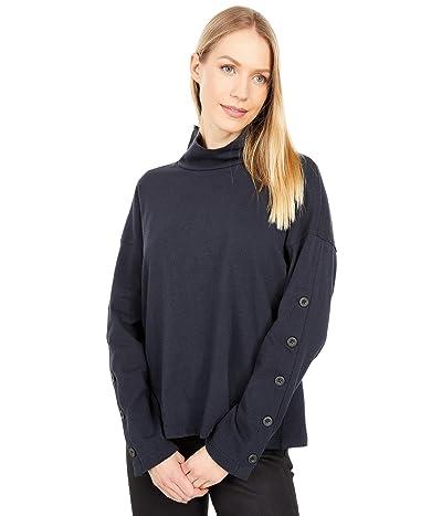 Madewell Button-Sleeve Turtleneck Top