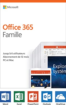 Microsoft Office 365 Home, 12-Month subscription, up to 6 people, PC/Mac French