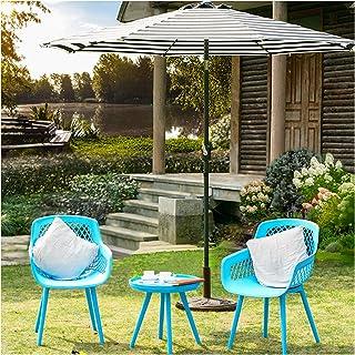 3 Piece OutdoorPatioFurniture Set- No Rust Heavy-Duty Chairs and Coffee Table Modern Plastic UV-Proof ModernBalcony Bi...