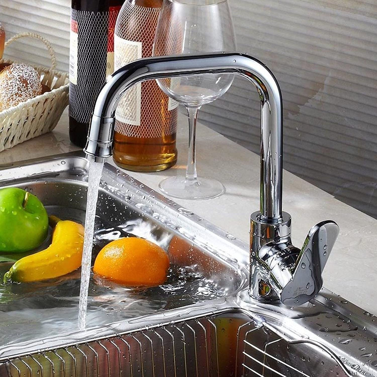 Flash Kitchen faucet Hot and cold vegetables basin sink faucet redatably kitchen basin sink faucet-A
