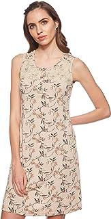 JOANNA Women's Floral Pattern Pajama Dress, XX-Large, Beige
