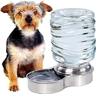 Pet Waterer Dispenser موزع وعاء الماء - نظام إعادة تعبئة بطيئة أوتوماتيكي يحافظ على الفولاذ المقاوم للصدأ طبق الشرب مملوءة...