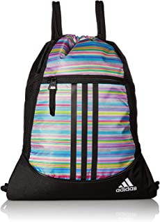 b4b4877c3af9 adidas Sack-pack Drawstring Bag Gym Tote (Pastel Stripes Sport Logo)