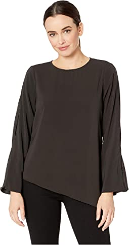 Bell Sleeve Asymmetric Blouse