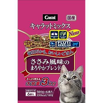 キャラット キャットフード ささみ風味のまろやかブレンド 国産 フィッシュ 3kg (500g ×6袋入)