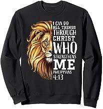 Christian Bible Verse Sayings Religious Gifts Him Lion Judah Sweatshirt