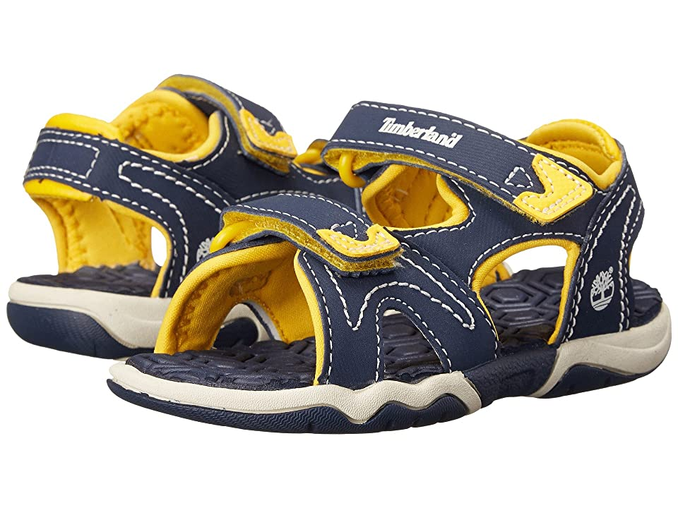 Timberland Kids Adventure Seeker 2 Strap Sandal (Toddler/Little Kid) (Navy/Yellow) Kids Shoes