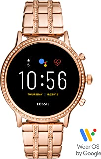 Fossil Gen 5 Julianna Stainless Steel Touchscreen Smartwatch with Speaker, Heart Rate, GPS and Smartphone Notifications - FTW6035