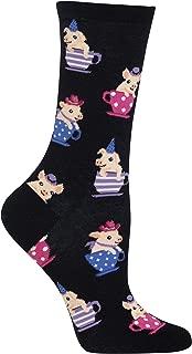 Hot Sox Women's Animal Series Novelty Casual Crew Socks