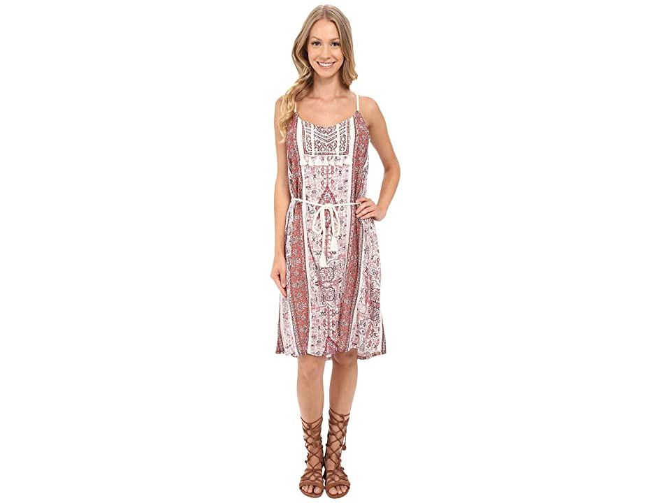 Lucky Brand Tribal Printed Dress (Coral Multi) Women