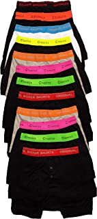 Sockstack 12 Pairs Mens Boxer Shorts Designer Black Fashion Band Underwear