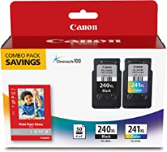 Canon PG-240XL/CL-241XL with Photo Paper 50 Sheets...