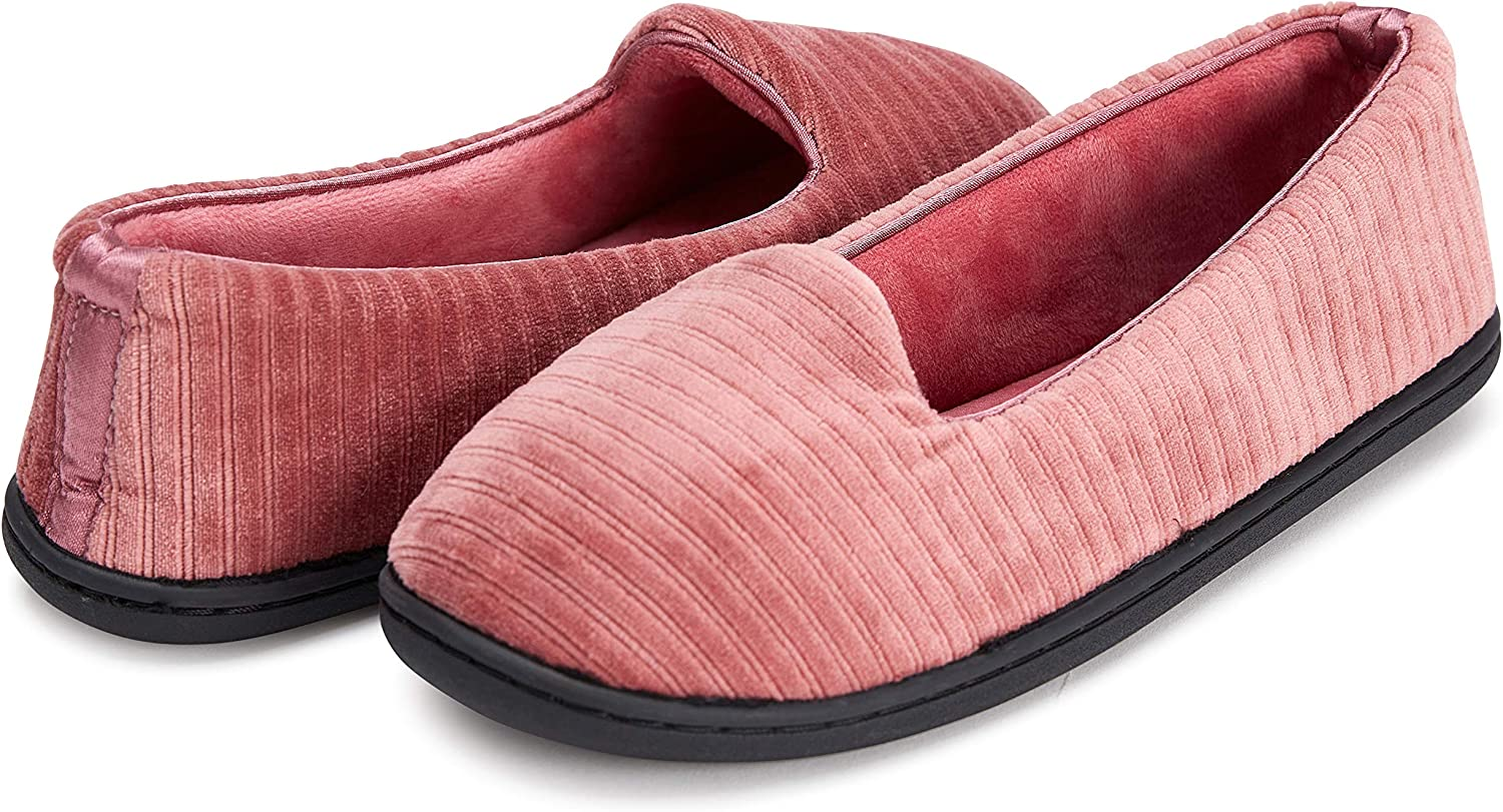 High quality new Selling rankings Womens Indoor Outdoor Plush Velour Closed Slipper W Memory Back
