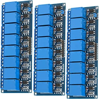 AZDelivery 3 x 8-Relay Module 5V met Optocoupler Low-Level-Trigger compatibel met Arduino Inclusief E-Book!