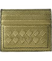 Bottega Veneta - Metallic Intrecciato Card Case