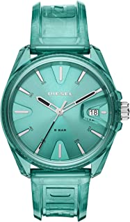 MS9 Three-Hand Green Transparent Watch