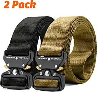 Fairwin Tactical Belt-1.5 Inch Web Nylon Tactical Belts for Men-Carry Tool Belt