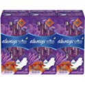 3 Pack Always Radiant Feminine Pads for Women Size 4 20 Count