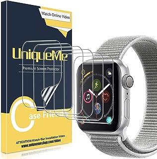 UniqueMe [6 Pack] Protector de Pantalla para Apple Watch 42mm Series 1/2/3, [Caso amistoso] [Película Flexible] Soft HD Cl...