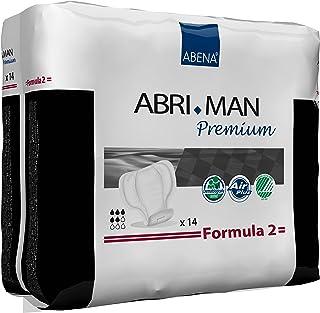 Abena Abri-Man Male Pouch Incontinence Shields, Formula 2, 168 Count (12 Packs of 14)