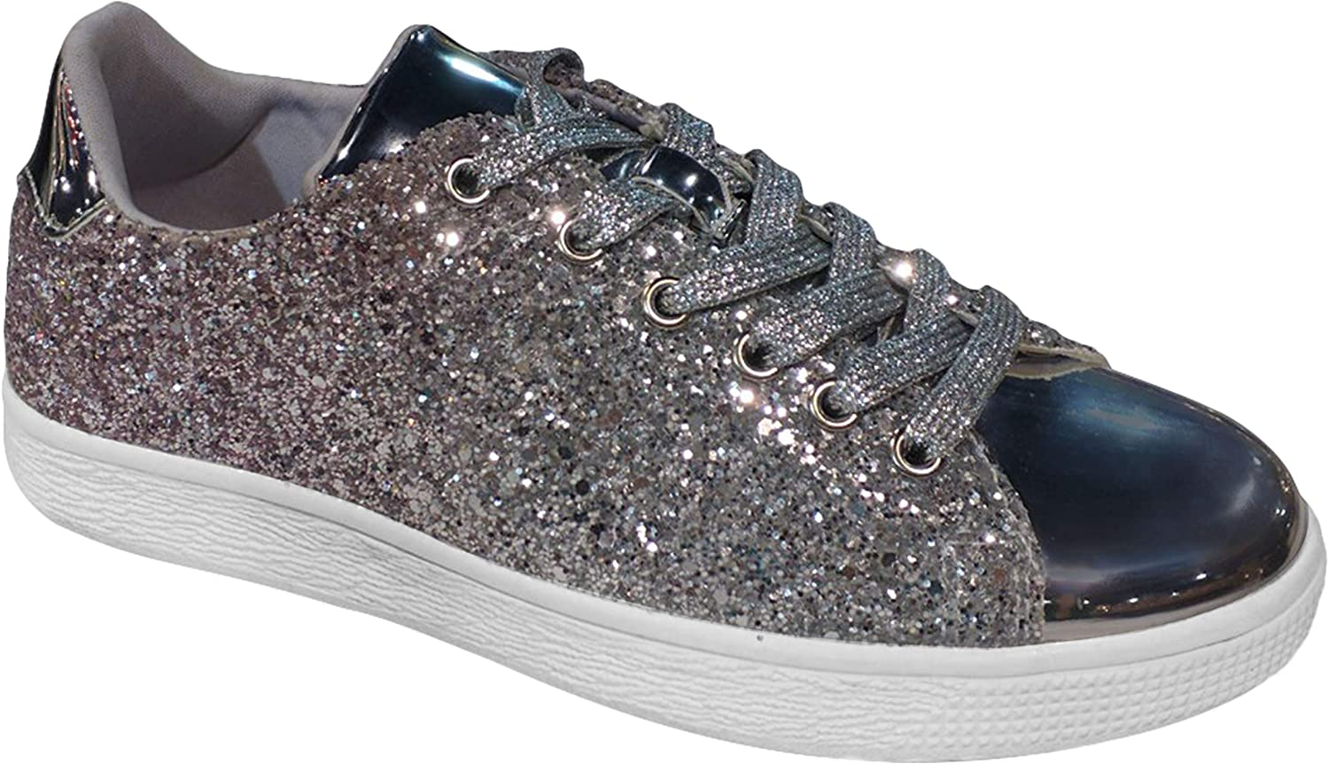 TravelNut Easter Special Sale New Metallic Laceup Fashion Sneaker for Women & Girls (Assorted colors)