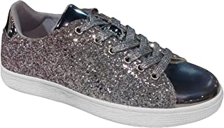 TravelNut Christmas Special Sale New Metallic Laceup Fashion Sneaker for Women & Girls (Assorted Colors)