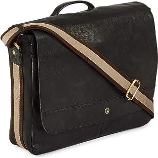 COCHOA 14 Inch Laptop Distressed Vintage Handmade Real Leather Flap Over Computer Tablet Messenger Satchel Shoulder Bag fo...