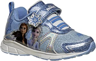 Disney Frozen Queen Elsa & Anna Characters Girls Shoes - Velcro Lightweight and Breathable