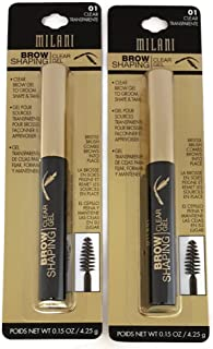 TWO Milani Brow Shaping Gel, 01 Clear, 0.15 oz