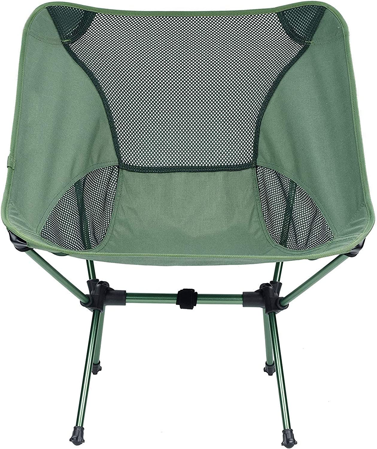 Portable Folding Camping Chair One Beach Chairs Heavy Duty Carry Lightweight Compact Breathable Travel Hiking Picnic Outdoor 330Lbs Capacity BBQ Camp