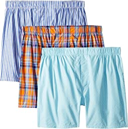 Packaged Woven Boxers 3 Pack