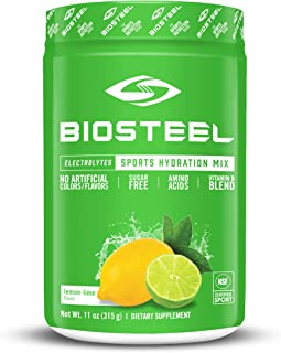 Sponsored Ad - BioSteel High Performance Sports Hydration - Sugar Free Drink Mix, Lemon Lime Flavor, 45 Servings