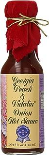 Pepper's Georgia Peach and Vidalia Onion Hot Sauce with Red Velvet Top, 5 Ounce