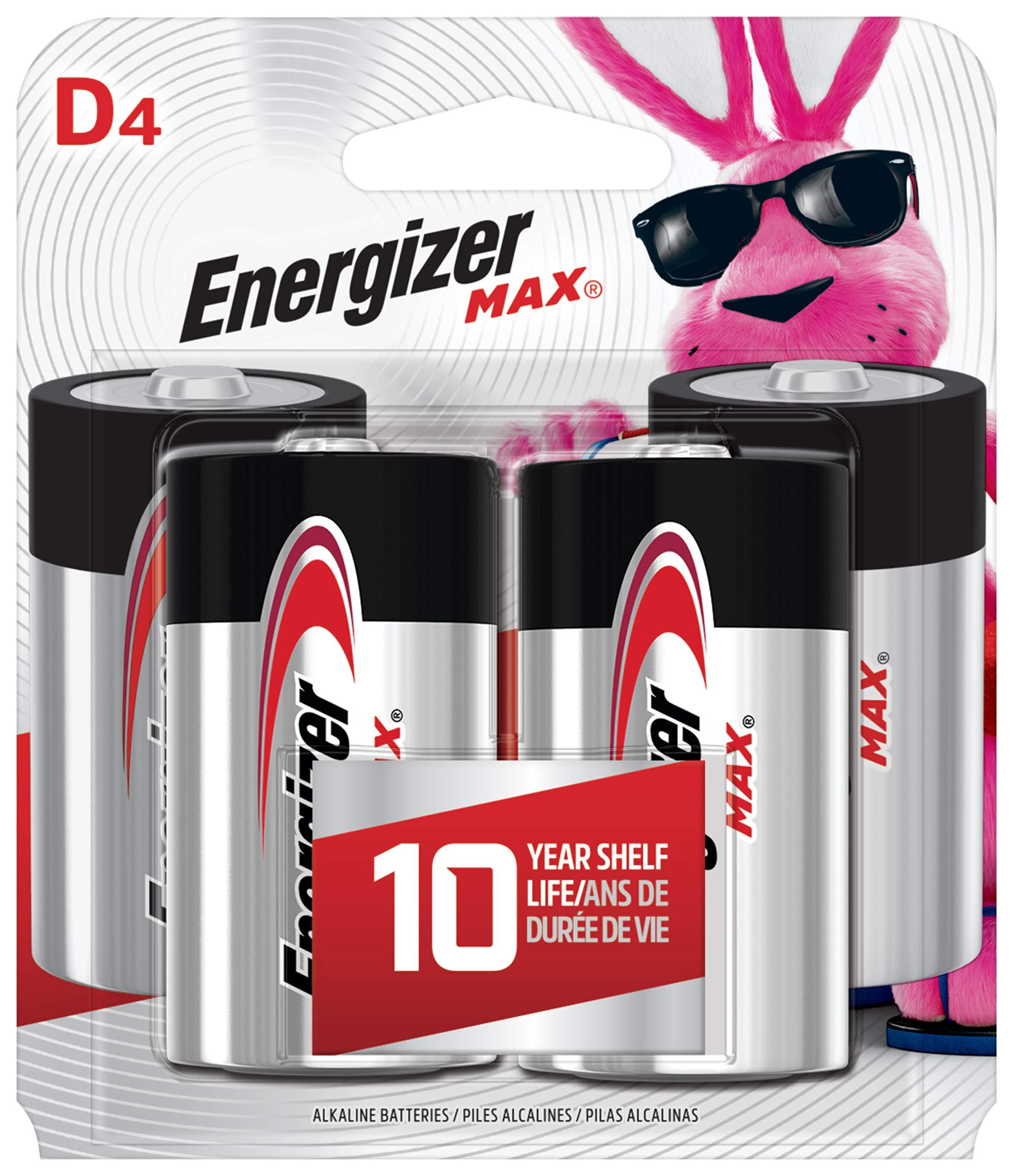 Energizer MAX Alkaline Batteries 4 Count