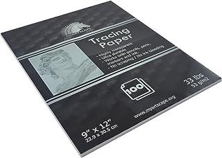 "Tracing Paper Pad - 33lb - 9"" x 12"" - 100 Transparent Sheets - Artist Quality - MyArtscape"