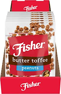 Sponsored Ad - FISHER Snack Butter Toffee Peanuts, 5.5 oz (Pack of 6)