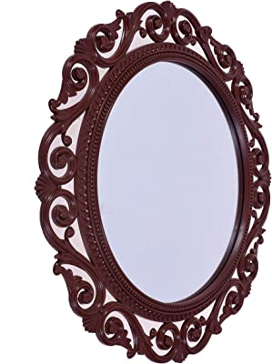 Smera 40 x 40 cm Beautiful Elegance Designer Frame Wall Mirror for Home (Cola)