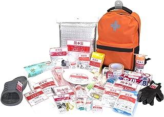 山善(YAMAZEN) 非常用持ち出し袋 簡易避難セット 防災用品 避難リュック 防災グッズ30点セット 一次避難向け YBG-30