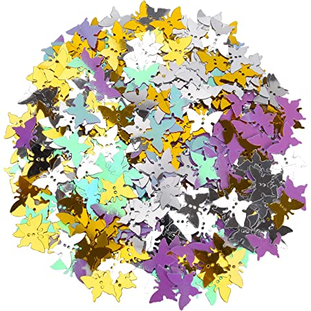 Udefineit 90g//3.17oz Metallic Butterfly Confetti Glitters Holographic Silver Gold Butterflies Sequins Shiny Table Scatters Sprinle Foil for Birthday Wedding Party Baby Shower Festival Events Decor
