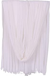 Women Solid Color Scarfs Large Long Lightweight Fringed Headscarf Linen Sheer Shawl Wrap