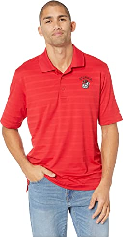 Georgia Bulldogs Textured Solid Polo