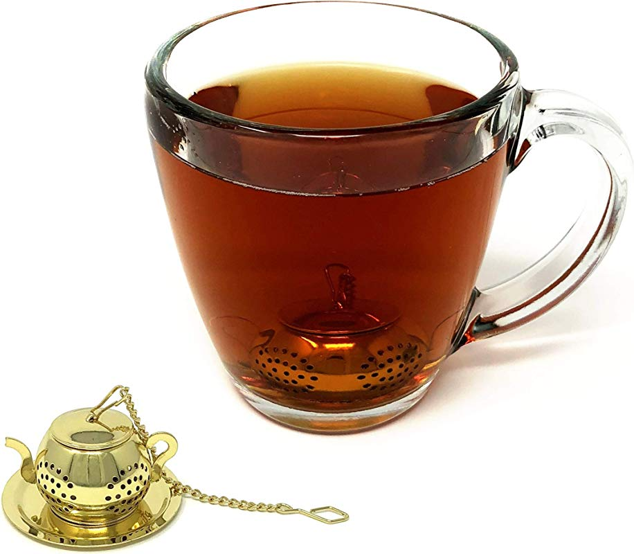 Tea Steeper Strainer For Loose Leaf Tea Premium Stainless Steel Infuser And Tea Filter And Brewer